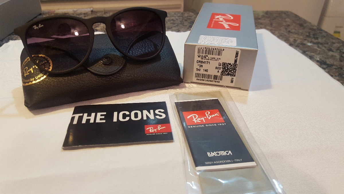 Óculos Ray-ban Rb4171 Erika Preto Degrade Black Friday - R  350,00 ... a80221ec19
