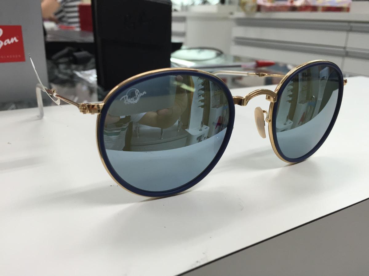 oculos ray ban redondo rb 3517 001 30 51 dobravel made italy. Carregando  zoom. 92eb19945f