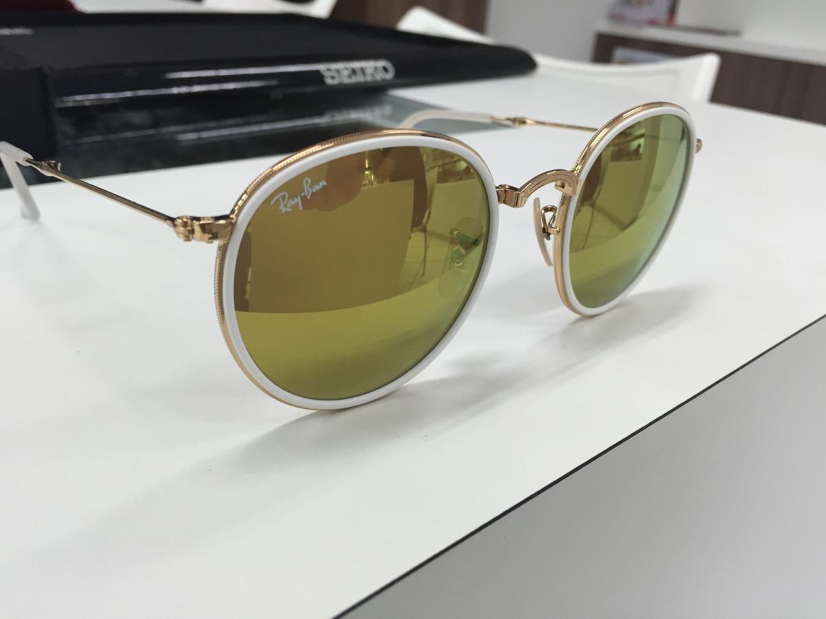 oculos ray ban redondo rb 3517 001 93 51 dobravel made italy. Carregando  zoom. 89cf4bcec0