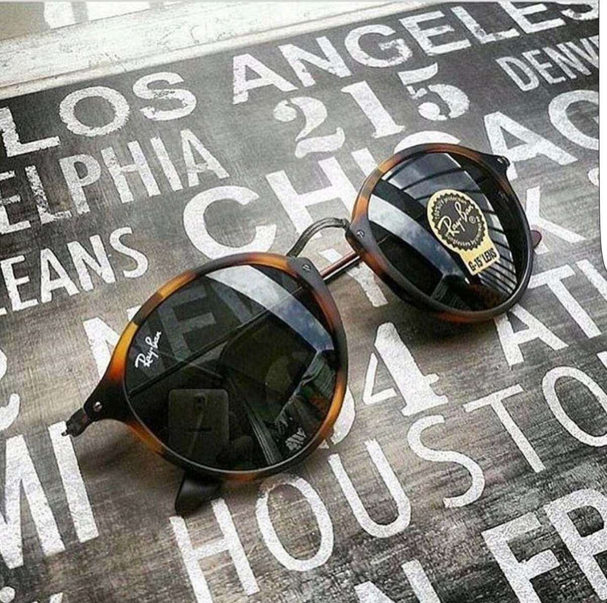 ... fleck tartaruga g15 verde original 2447 · óculos ray ban round.  Carregando zoom. dc5d7eccb5