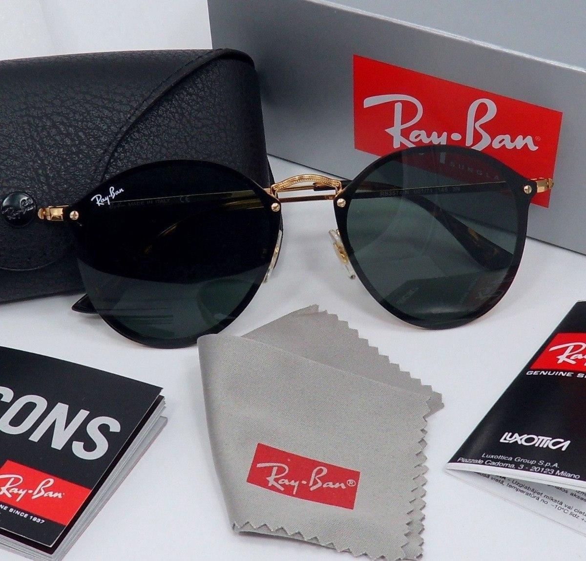 Óculos Ray-ban Round Blaze Rb3574 Original Fotos Reais - R  350,00 ... 9019b71331