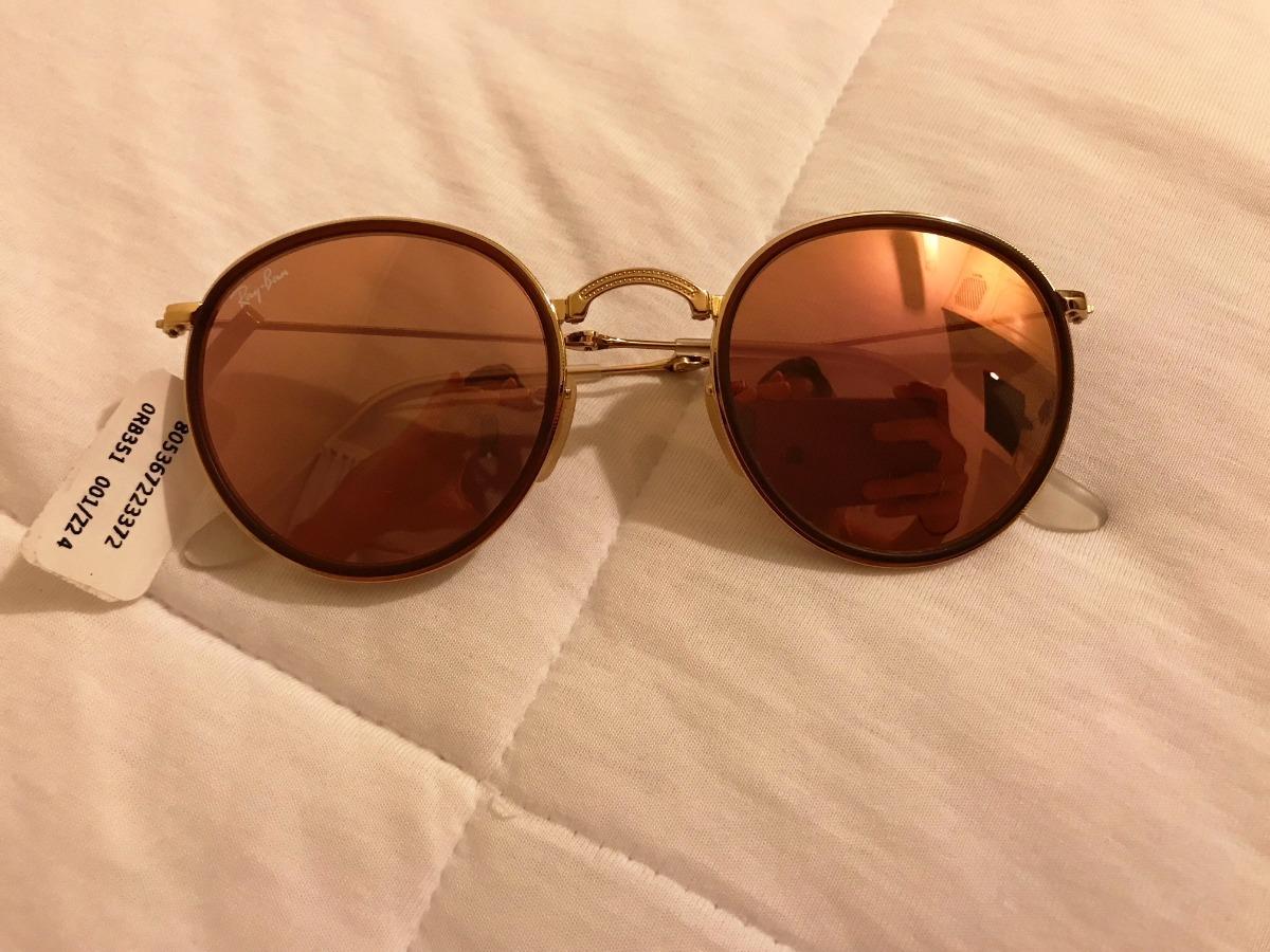 b7f21cf84 Óculos Ray-ban Round Dobrável - Original, Novo!! - R$ 420,00 em ...