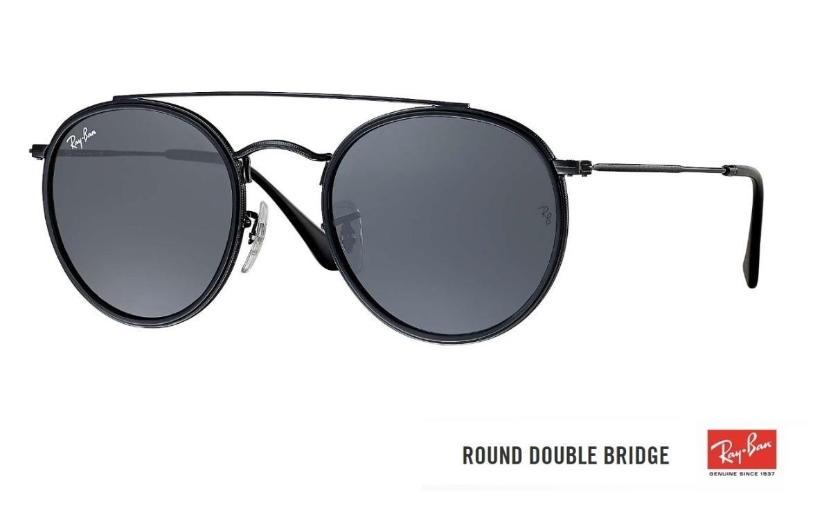 032cb1f34 óculos ray ban round double bridge 3647 original lançamento. Carregando zoom .