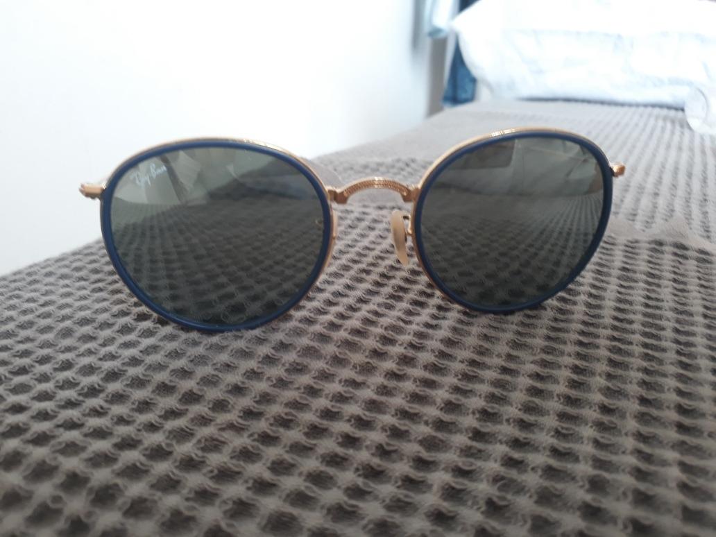 Óculos Ray Ban Round Espelhado Original - R  150,00 em Mercado Livre dd6ae57555
