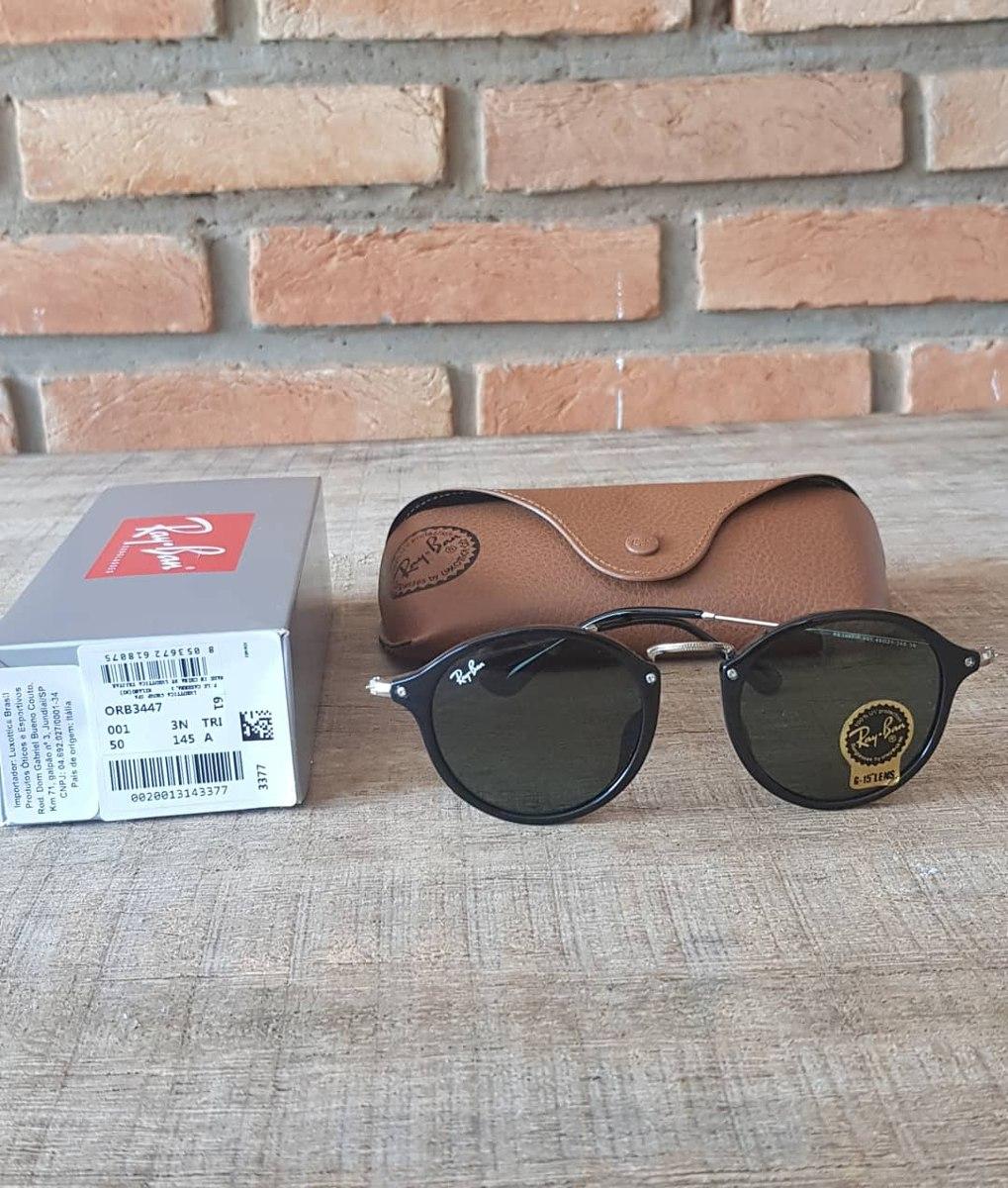 óculos ray ban round fleck preto g15 verde escuro 2447. Carregando zoom. 0f6b1acd91