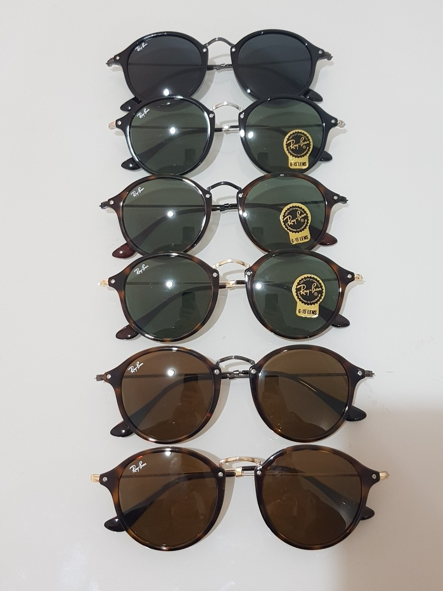 óculos ray ban round fleck tartaruga g15 verde original 2447. Carregando  zoom. f7c7a6c6e7