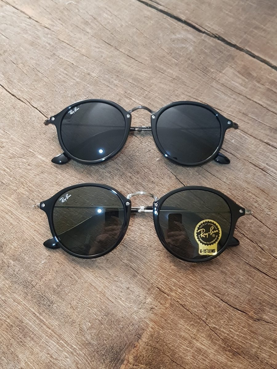 9728a96068 óculos ray ban round fleck tartaruga g15 verde original 2447. Carregando  zoom.