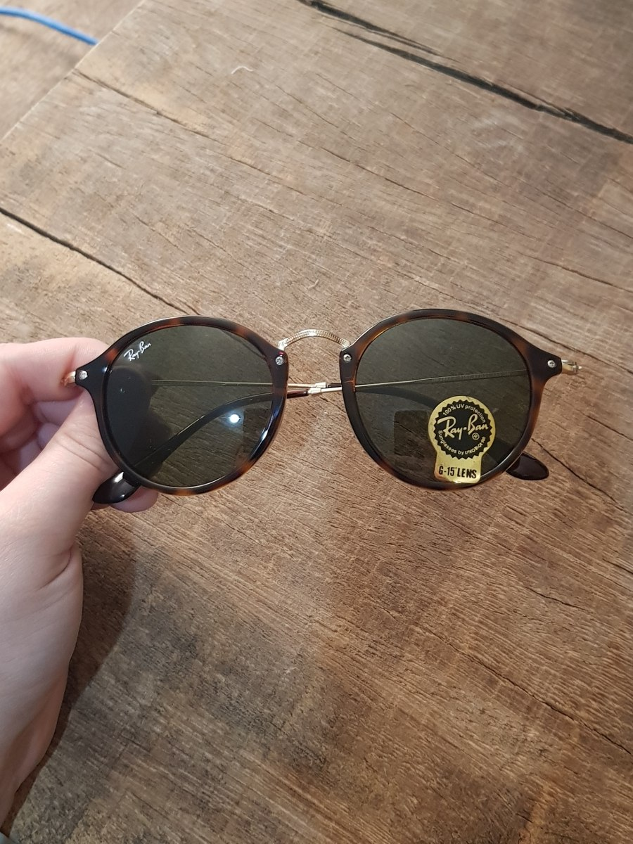 229e1e2be óculos ray ban round fleck tartaruga g15 verde original 2447. Carregando  zoom.