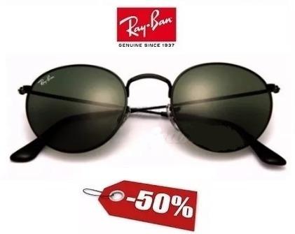 a9e48959e3e0b Óculos Ray Ban Round Metal Estiloso Retrô Original Redondo - R  300,00 em  Mercado Livre