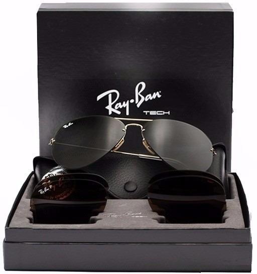 1bc09d3475d50 Óculos Ray Ban Tech Flip Out Rb3460 Troca Lentes 3 Em 1 - R  280