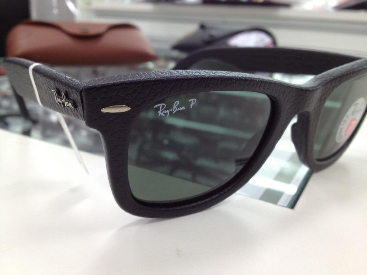 80cbb6d50c3ee Oculos Solara Ray Ban Wayfarer Rb2140 Polarizado Couro - R  599,99 ...
