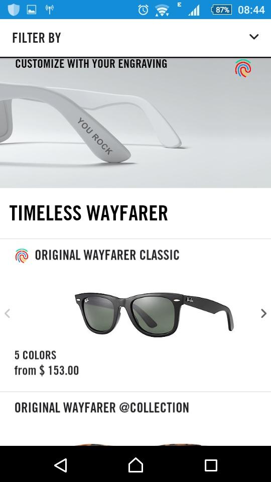 49b6ce04054fd Oculos Ray Ban Wayfarer Original Com Nota . - R  320