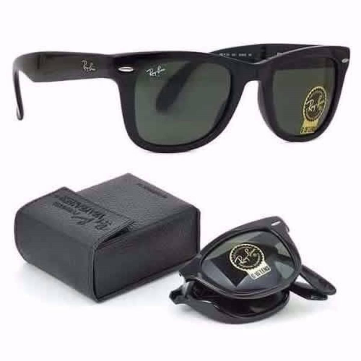 92658d556ba56 Óculos Ray Ban Wayfarer Dobrável Rb4105 Black Piano Promoção - R ...