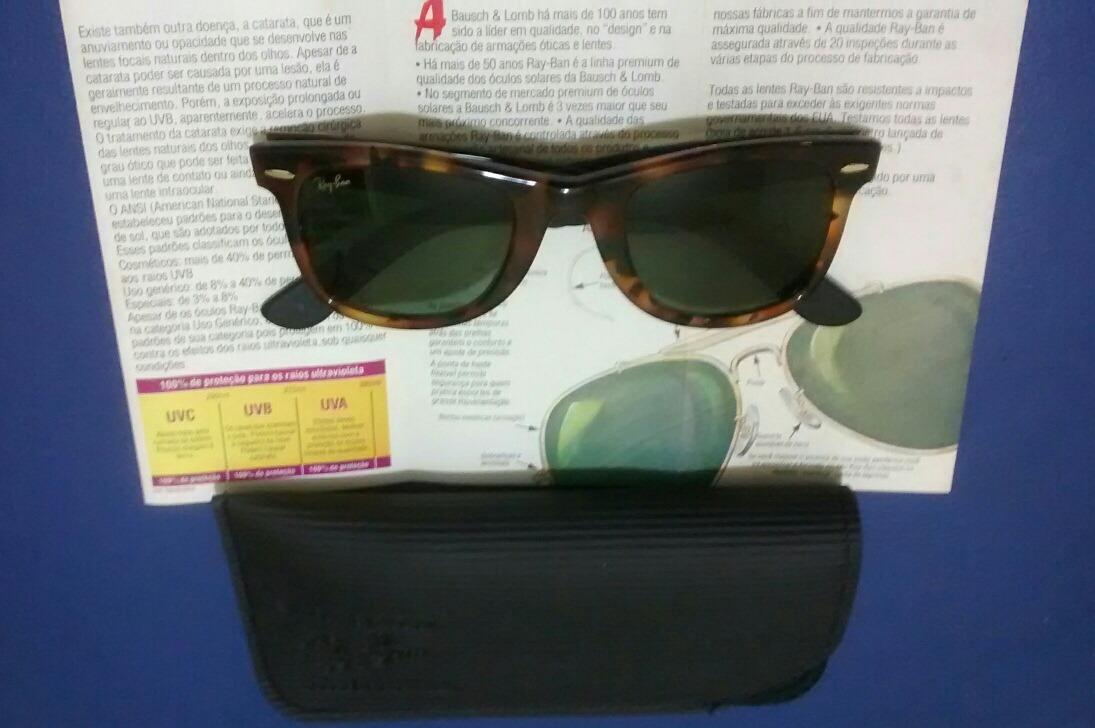 1944aa4177df4 ... new zealand óculos ray ban wayfarer bausch e lomb série ouro original. carregando  zoom.