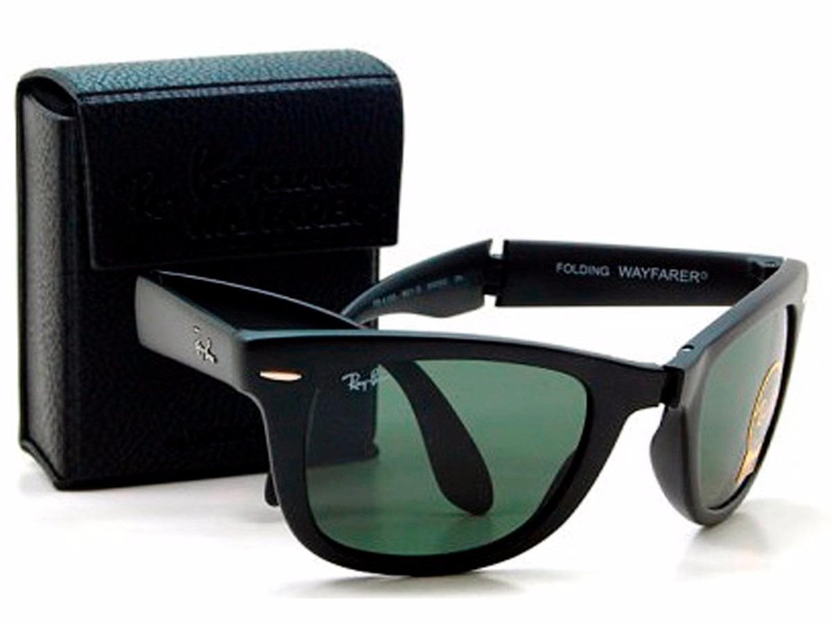 683eacefa ... buy óculos ray ban wayfarer dobrável rb4105 original black pi. carregando  zoom. 5b432 3e30b