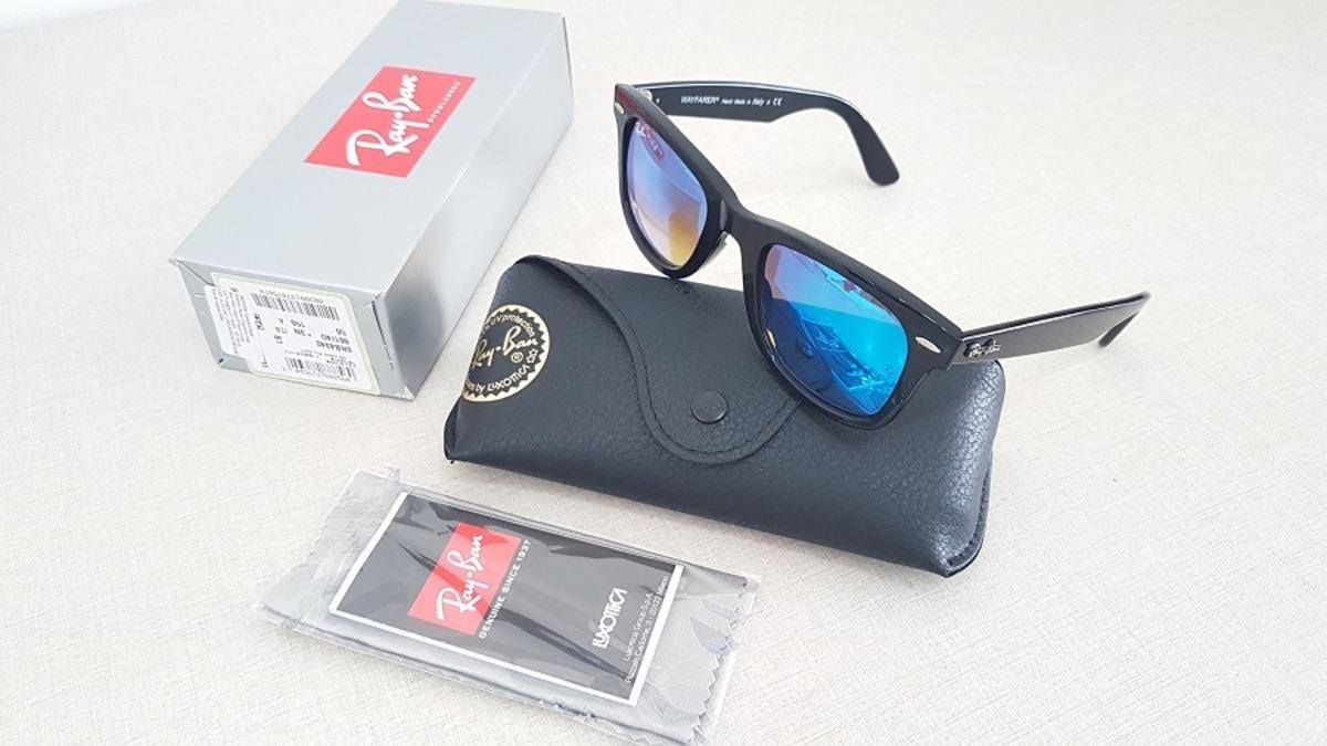 f23b42acf5 óculos ray-ban wayfarer masculino rb 4340 601 40 original. Carregando zoom.