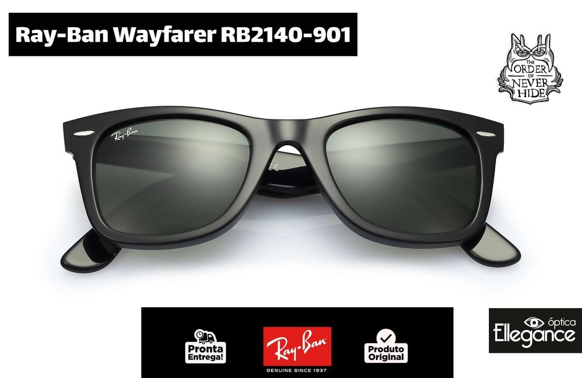 Óculos Ray- Ban Wayfarer Rb2140-901 - Lentes G-15 - R  497,00 em ... 6e271f6a1c