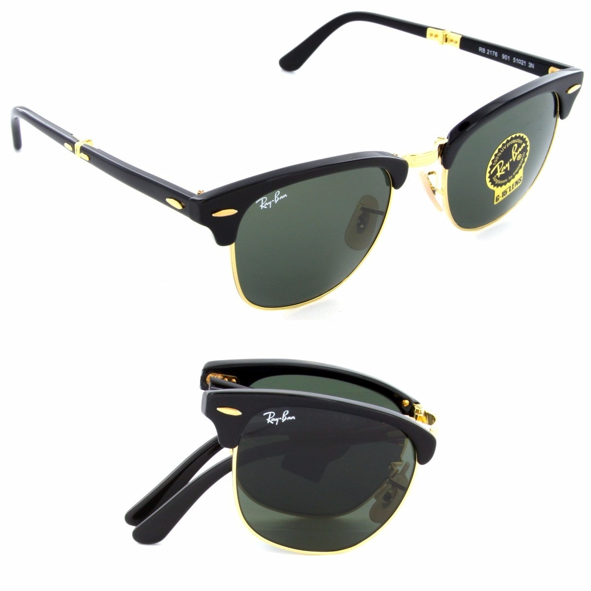 3b37aa6f53fb6 oculos rayban 3016 51 clubmaster dobravel oferta 50% off. Carregando zoom.