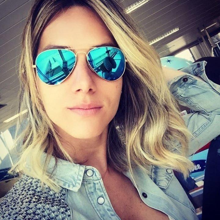 5326af112 Óculos Rayban Aviador 3025 Azul Espelhado Feminino Masculino - R ...