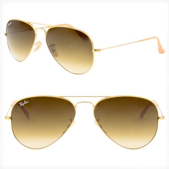 8160ac4bab748 Óculos Rayban Aviador 3025 Marrom Degradê Feminino Original - R  209 ...