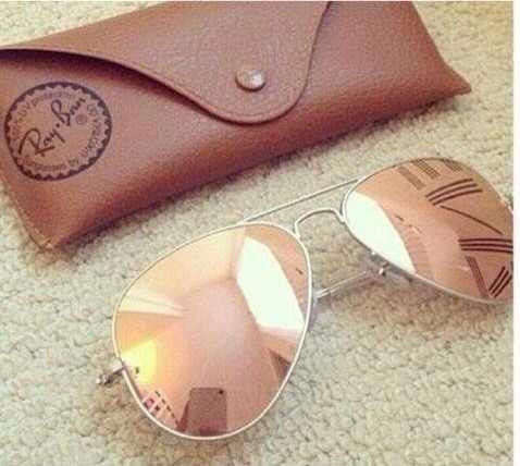 Oculos Rayban Aviador Dourado Espelhado Masculino Feminino - R  69 ... 9df9ced187