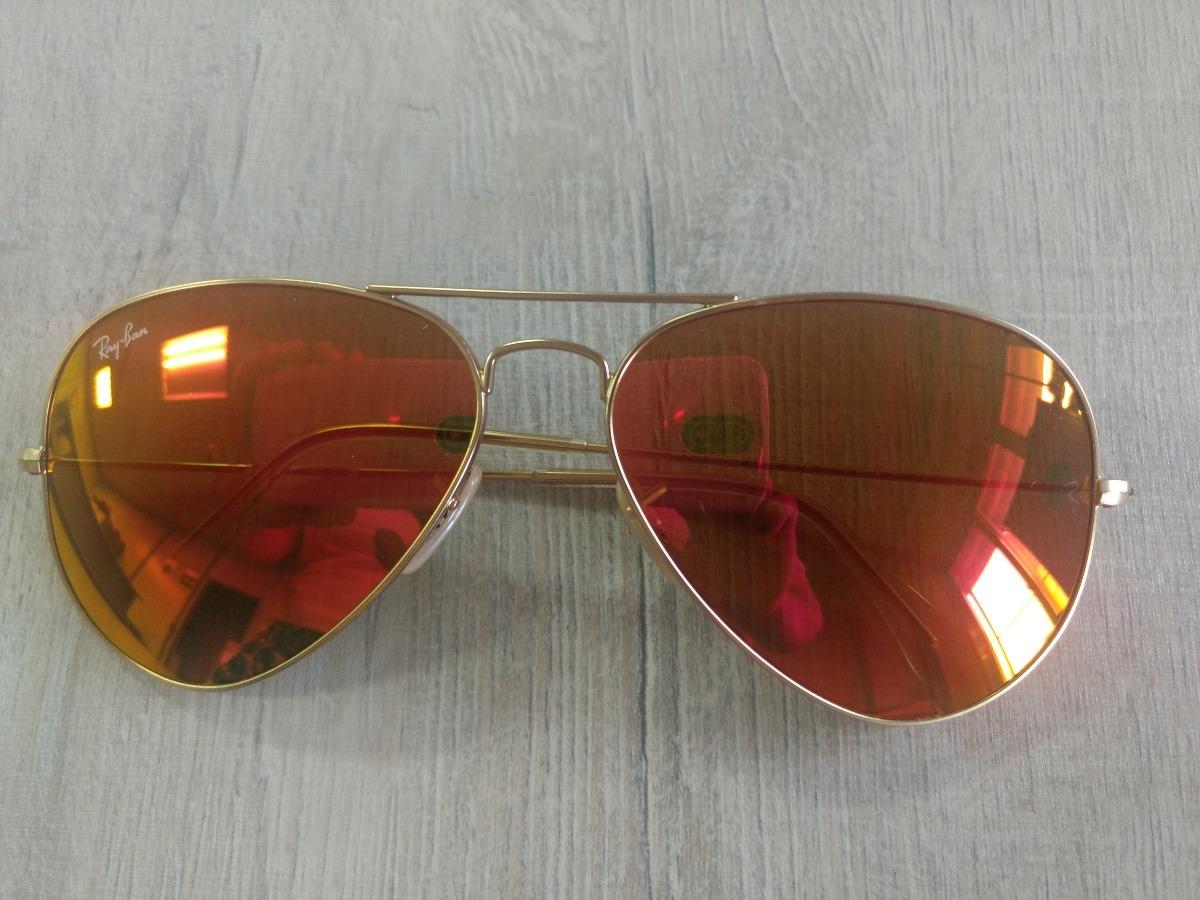 Óculos Rayban Aviador Espelhado - R  450,00 em Mercado Livre 74c38aeb65