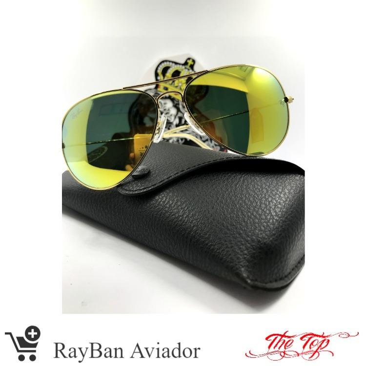 71c129012 Óculos Rayban Aviador Espelhado - R$ 340,00 em Mercado Livre