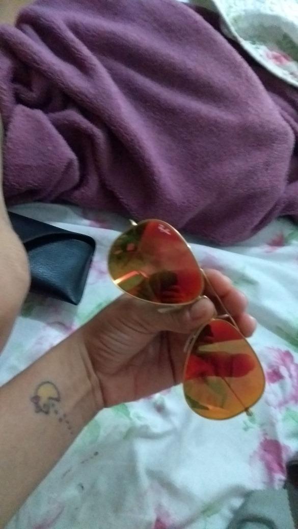 Óculos Rayban Aviador Espelhado Vermelho Original - R  350,00 em ... f9690e65a6