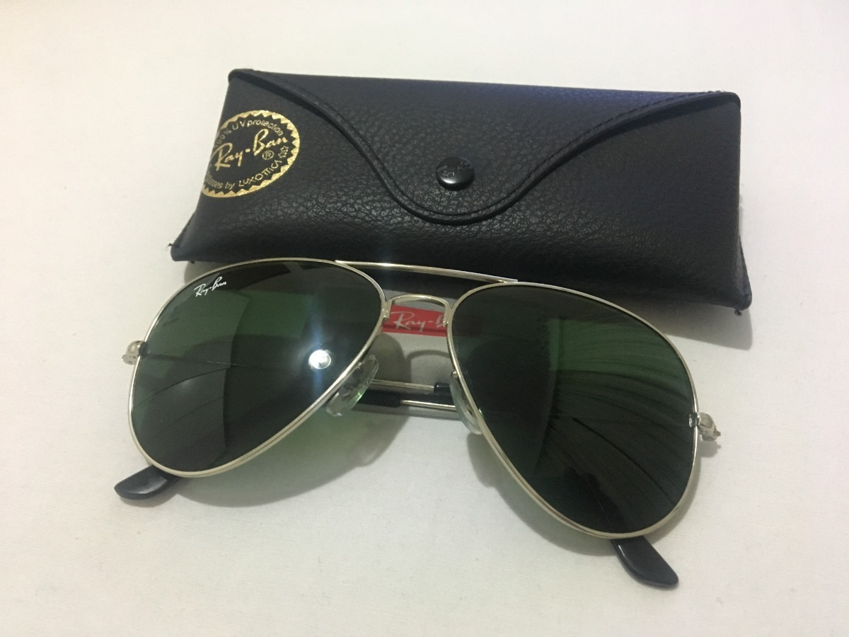 8dee7da13e8fd óculos rayban aviador lentes originais verdes bausch   lomb. Carregando  zoom.
