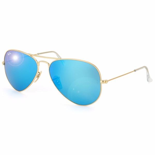 ab2c3a5faca94 Óculos Rayban Aviador Rb3025 Lente Azul Espelhada Original - R ...