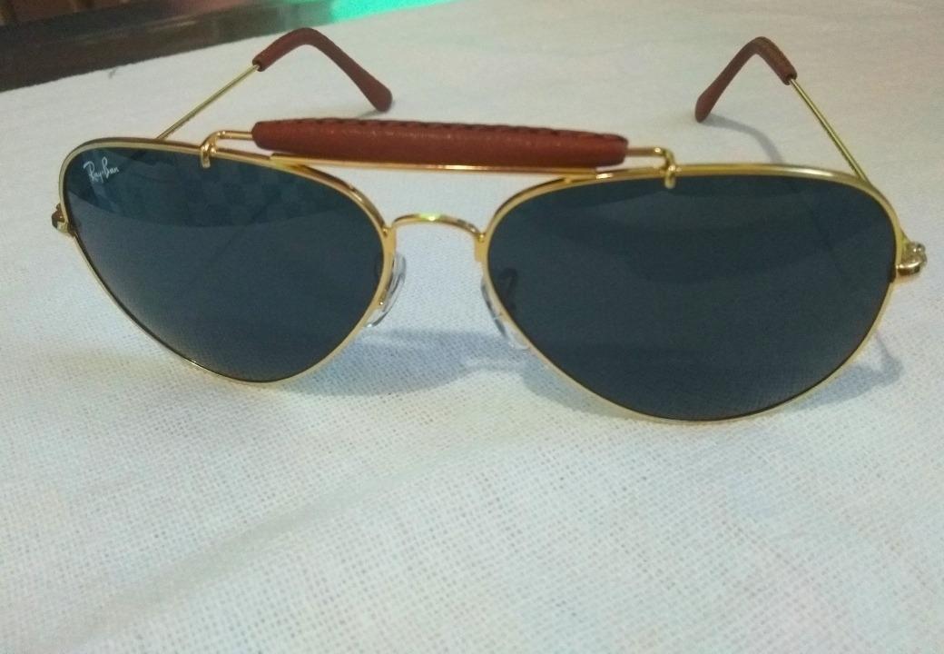 oculos rayban caçador armação dourada lente preta+brinde. Carregando zoom. 02c72b167e
