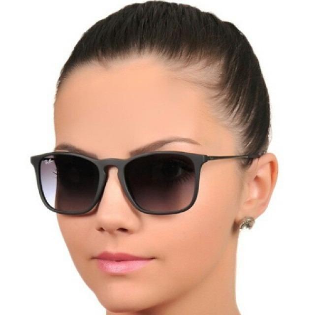 Óculos Rayban Chris 4187 Feminino Masculino Polarizado - R  326,00 ... af9495e6ed