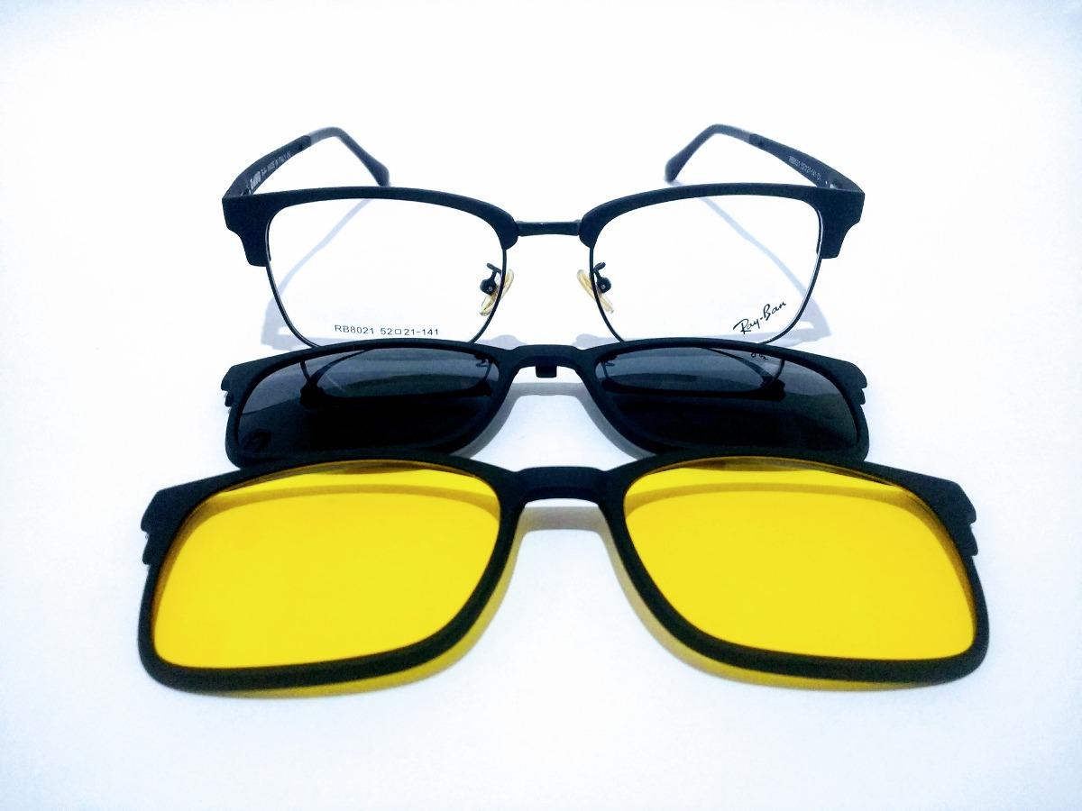 361f75212b733 óculos rayban clip on rb8021 masculino importado promoção. Carregando zoom.