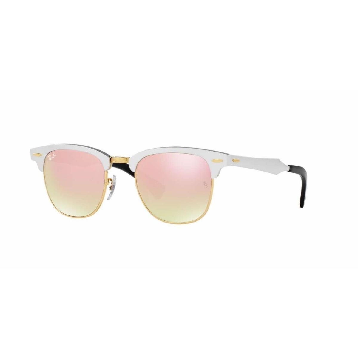 óculos rayban clubmaster aluminio rb3507 prata rosa espelho. Carregando  zoom. 438e67504b