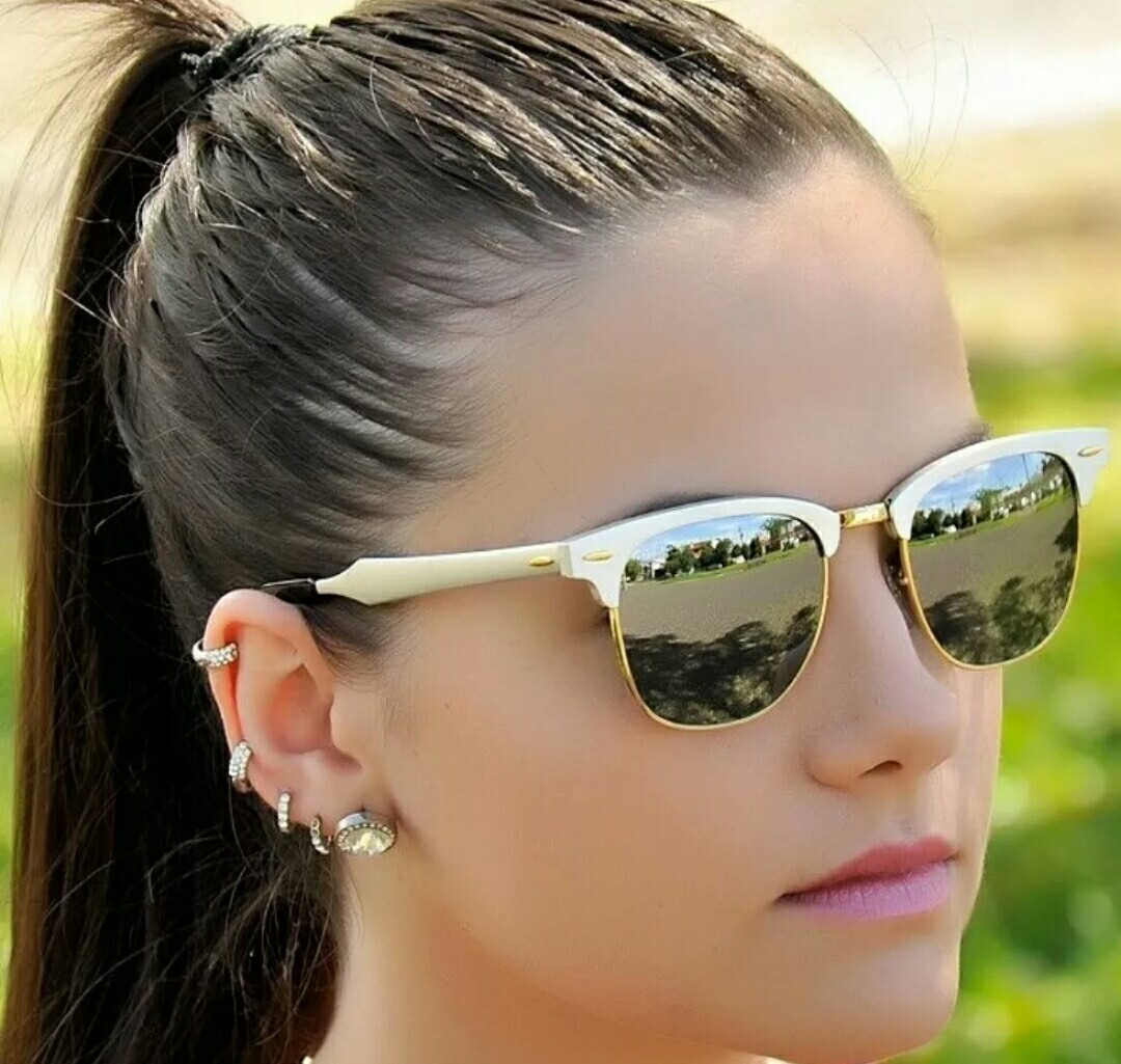 e42dc6e790f1c ... usa óculos rayban clubmaster aluminum rb3507 prata. carregando zoom.  ef4f2 88c68