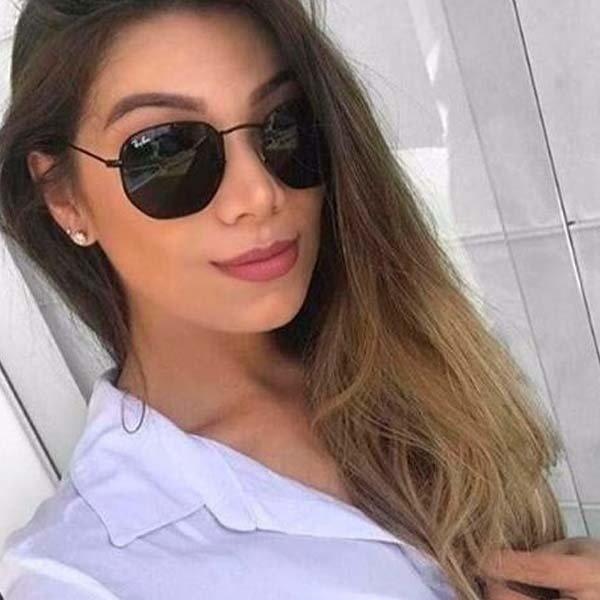 dc3d167dc Óculos Rayban Hexagonal 3548 Preto Feminino Masculino - R$ 129,00 em ...