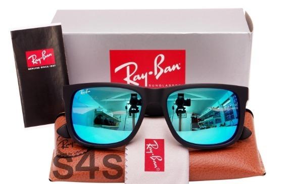 5342786db07bd ... reduced óculos rayban justin rb4165 azul espelhado masculino oferta  915e5 de487