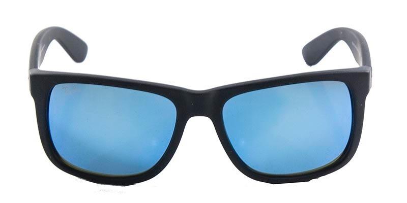 7640a85583ab8 óculos rayban justin rb4165 preto azul espelhado original. Carregando zoom.