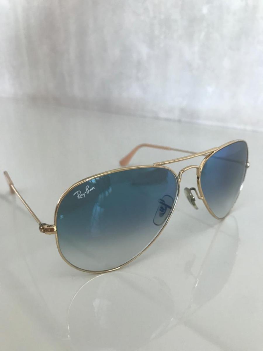 652867900d115 óculos rayban rb3025 001 3f 58 aviador azul - original. Carregando zoom.