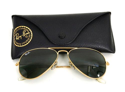 óculos rayban rb3025 aviador original dourado lente preta