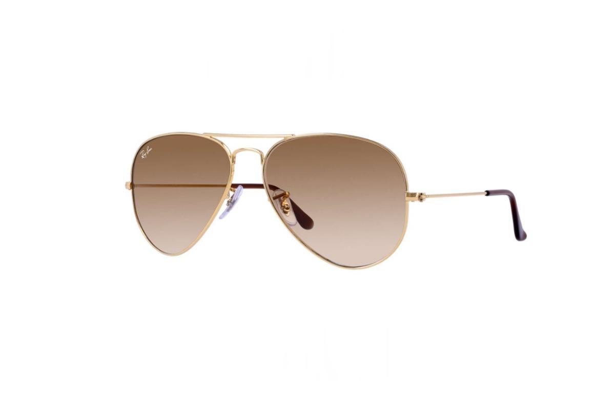 06e4645ae óculos rayban rb3025 aviador original dourado marrom degrade. Carregando  zoom.
