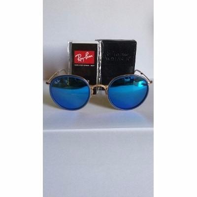 cb85eb726ea20 Oculos Rayban Round Dobravel Azul Espelhado - Promoção - R  350,00 ...