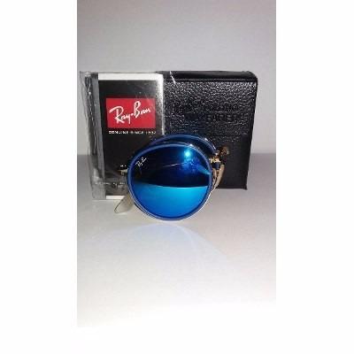 c7f770a4d9d6c Oculos Rayban Round Dobravel Azul rosa Redondo Espelhado - R  350,00 ...