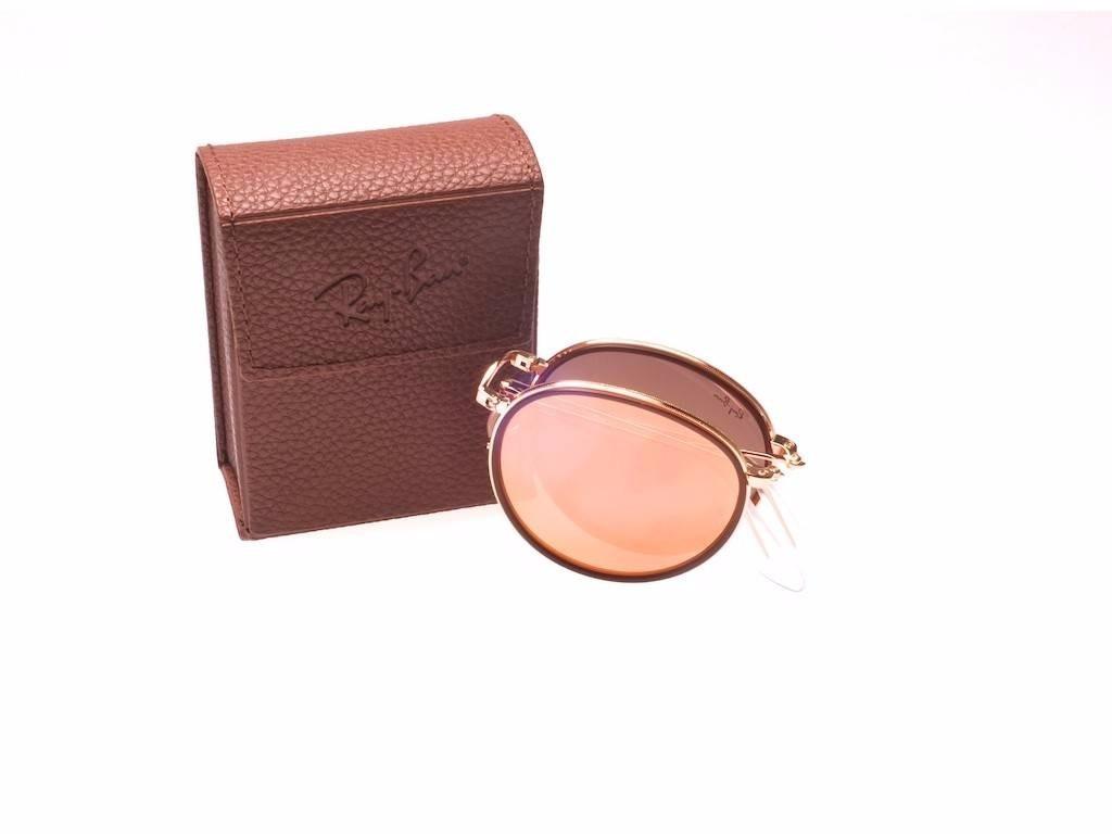 oculos rayban round dobravel azul rosa redondo   espelhado. Carregando zoom. 62f0cf89da
