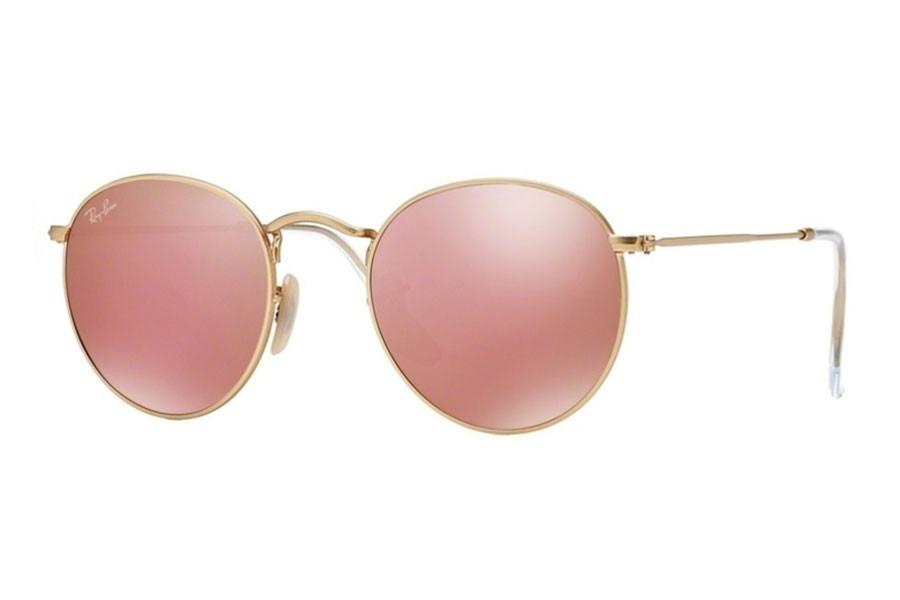 ee842f0dc96d5 óculos rayban round rb3447 rosa espelhado redondo feminino. Carregando zoom.
