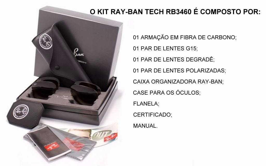 253a92b6704ff óculos rayban tech flip out rb3460 troca lentes - original. Carregando zoom.