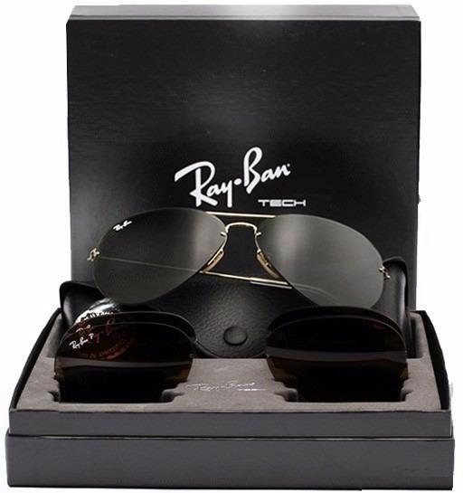 418b17be15741 Óculos Rayban Tech Flip Out Rb3460 Troca Lentes - Original - R  399 ...