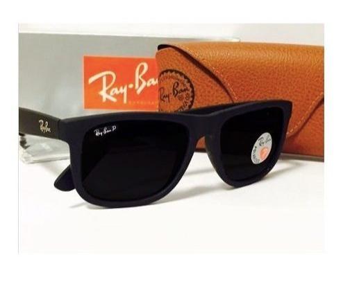 88c07318a7ab0 Óculos Rb Justin Wayfarer 100% Polarizados Varias Cores - R  45,00 ...