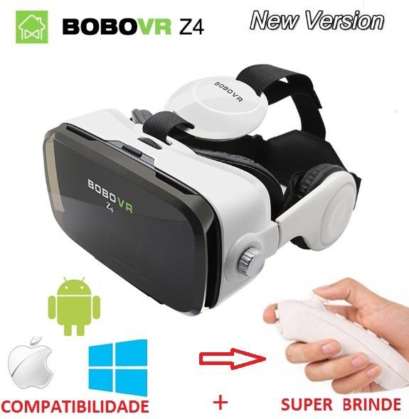 d129e3f34d952 Óculos Realidade Virtual 3d Bobo Vr Z4 + Gamepad Bluetooth - R  288 ...