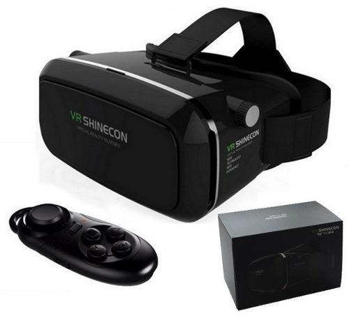 2683294f59a50 Oculos Realidade Virtual 3d Vr Shinecon 2.0 Preto + Controle - R ...